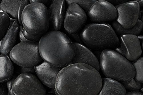 Margo 30 Lb Black Polished River Pebbles Grade A 3 5 Cm Rainforest Http