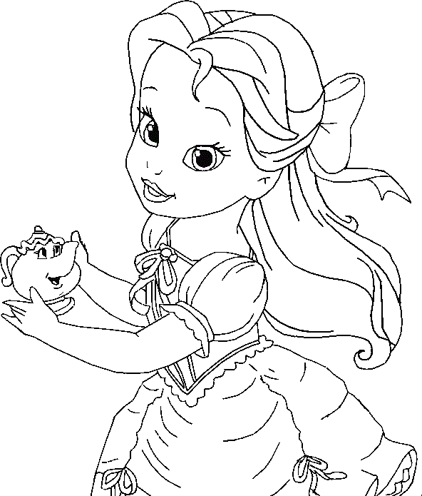 Free Coloring Pages Disney Princesses Elegant Baby Princess Belle Coloring Pages Disney Princess Coloring Pages Mermaid Coloring Pages Disney Princess Colors