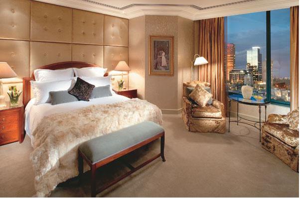 Bedroom Suite At The Langham Hotel Melbourne Australia