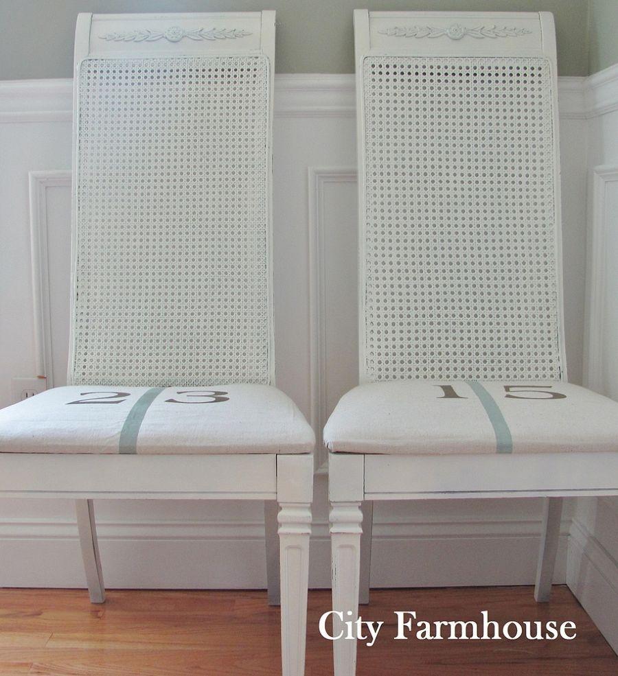 Drop Cloth Cane Chairs Cane Chair Home Decor Drop Cloth