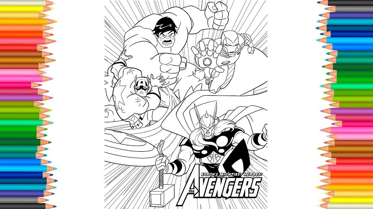 Avengers Infinity War Coloring Page l Marvel Studios How to Color ...