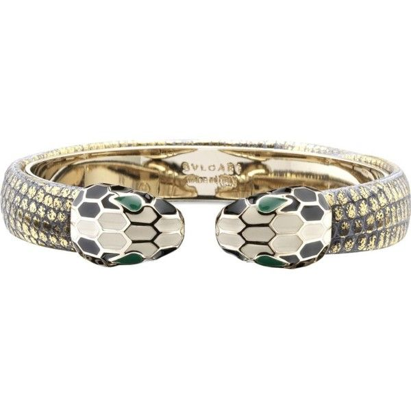 bvlgari serpenti contraire brass bracelet u20ac425 liked on polyvore featuring jewelry