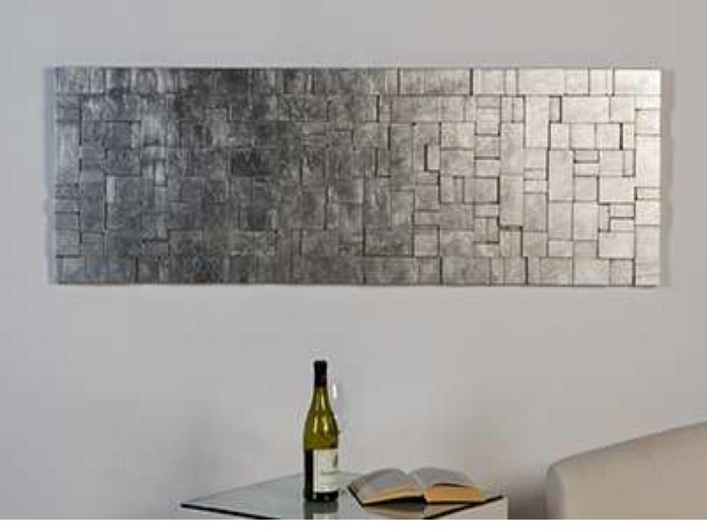 Mat zilver breed houten design wanddecoratie | Home and decoration ...