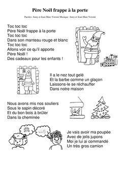 Pere Noel Frappe A La Porte Chanson Noel Maternelle Chanson