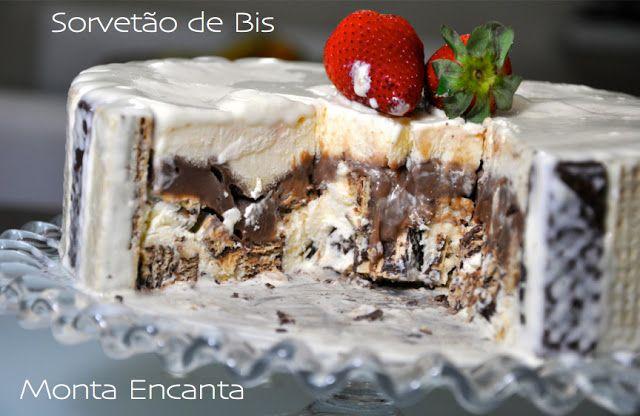 Sorvetão de Bis - 3 ingredientes   Monta Encanta