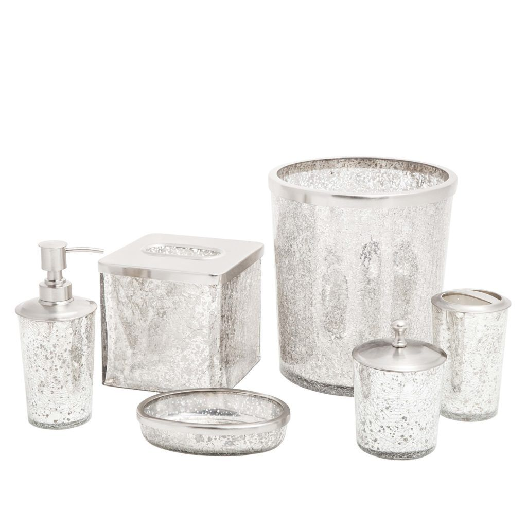 Silver Glitter Bathroom Accessories | It\'s my house... && I live ...