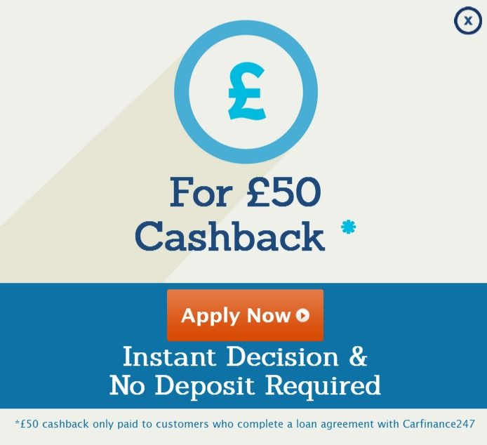 50 Cashback On Completed Loans Through Carfinance24 7 With Www