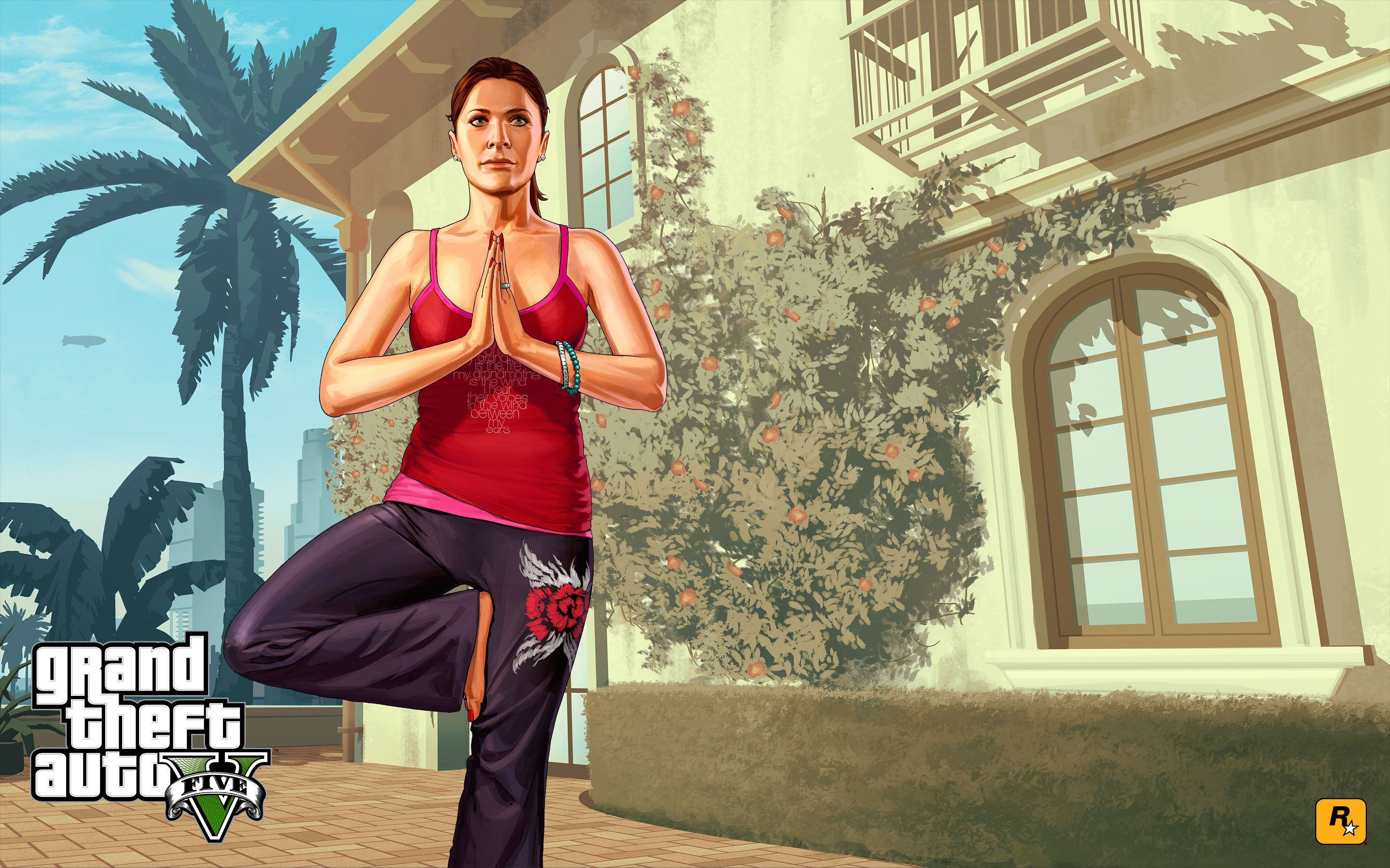 gta 5 - yoga with amanda 2880x1800 wallpaper | best games of all