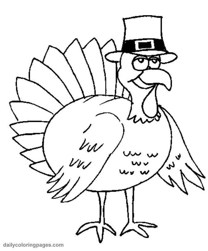 Turkey Coloring Pages Free
