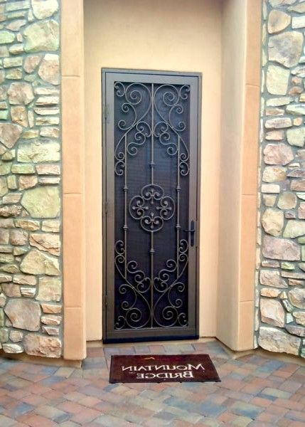screen depot sliding doors size wrought medium home iron security workerscollab patio org glass for of door