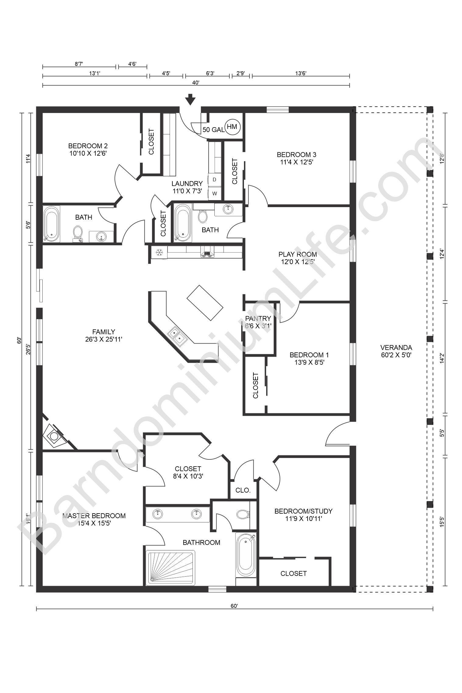 Inspiring Open Concept Barndominium Floor Plans in 2020 ...