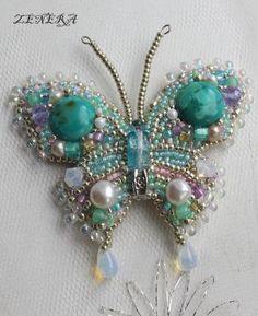 Bead embroidery butterfly #jewelryinspiration #cousincorp