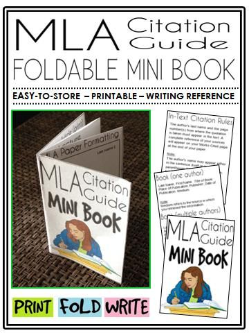 mla citation guide mini book a perfect addition to an ela
