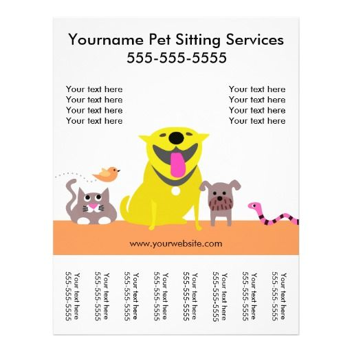 Pet Sitter S Flyer With Tags Dog Cat Bird Snake Pet Sitting Flyer Pet Sitting Business Cards Pet Sitters