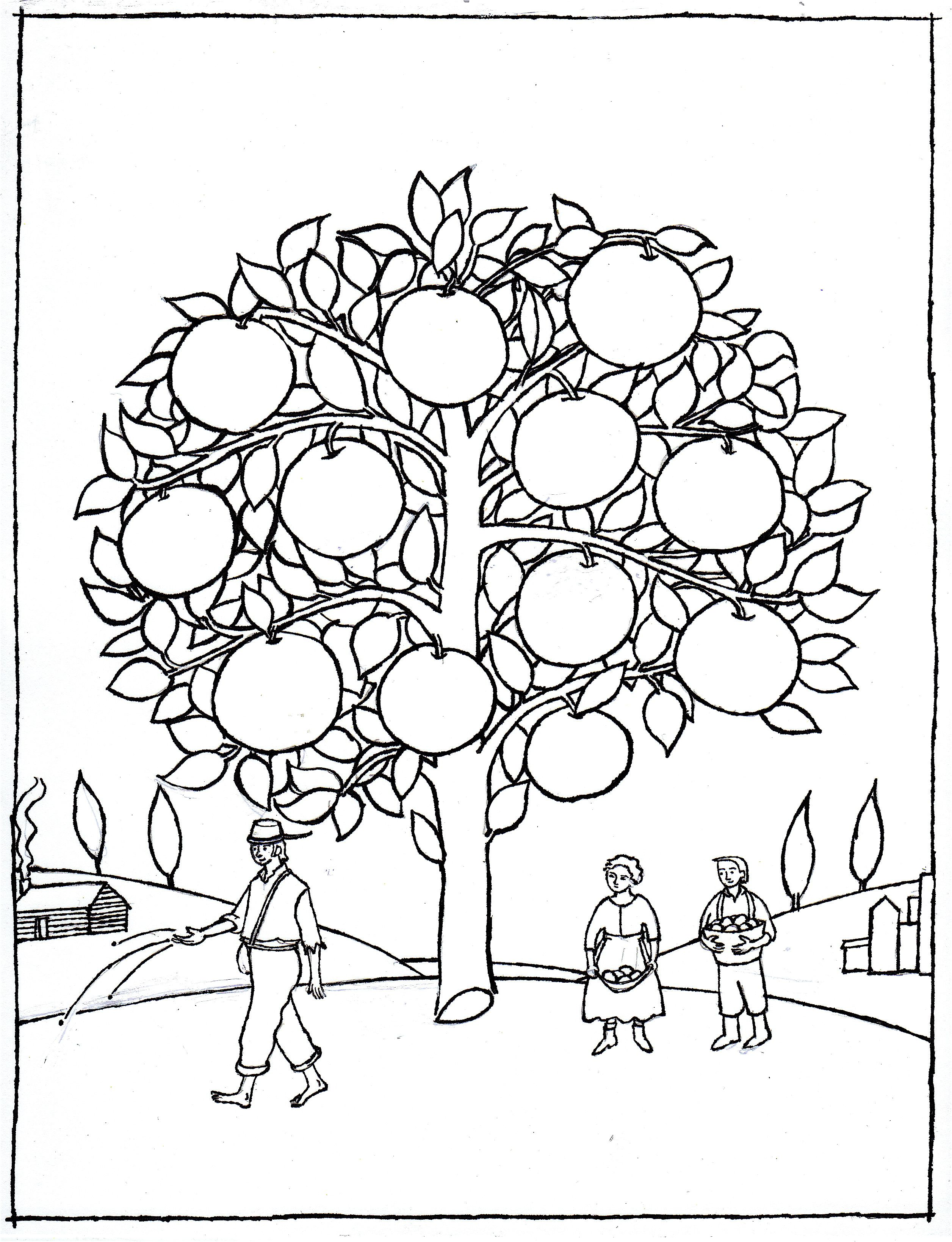 Posts About Seed By Seed On Lynne Rae Perkins Tree Coloring Page Fruit Coloring Pages Coloring Pages Inspirational