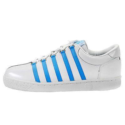KSWISS Cla Lo Gs 801157 Mens WHITENC BLUE Sneakers SZ 5