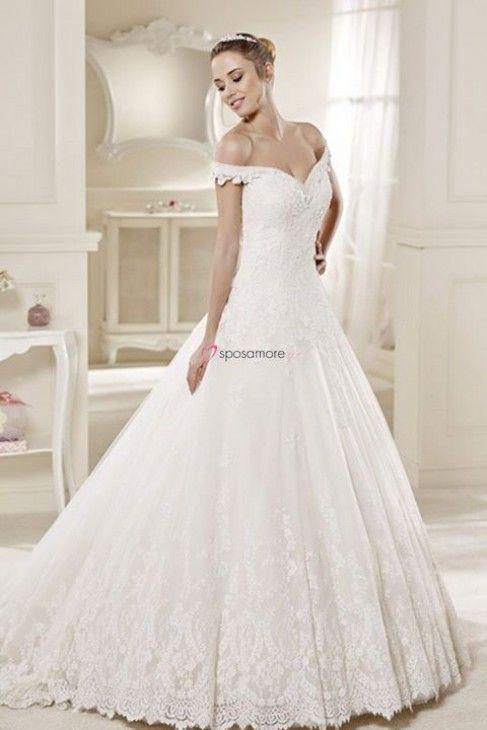 retmary - vestido de novia estilo princesa con hombros caidos,en