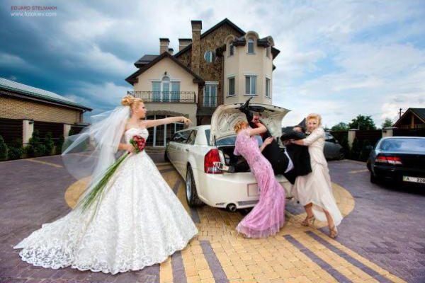 Beliebt le-marié-dans-le-coffre-drole-de-photo-mariage | photo mariage  BK65