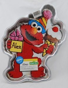 Elmo Cake Pan With Ice Cream And Presents With Insert By