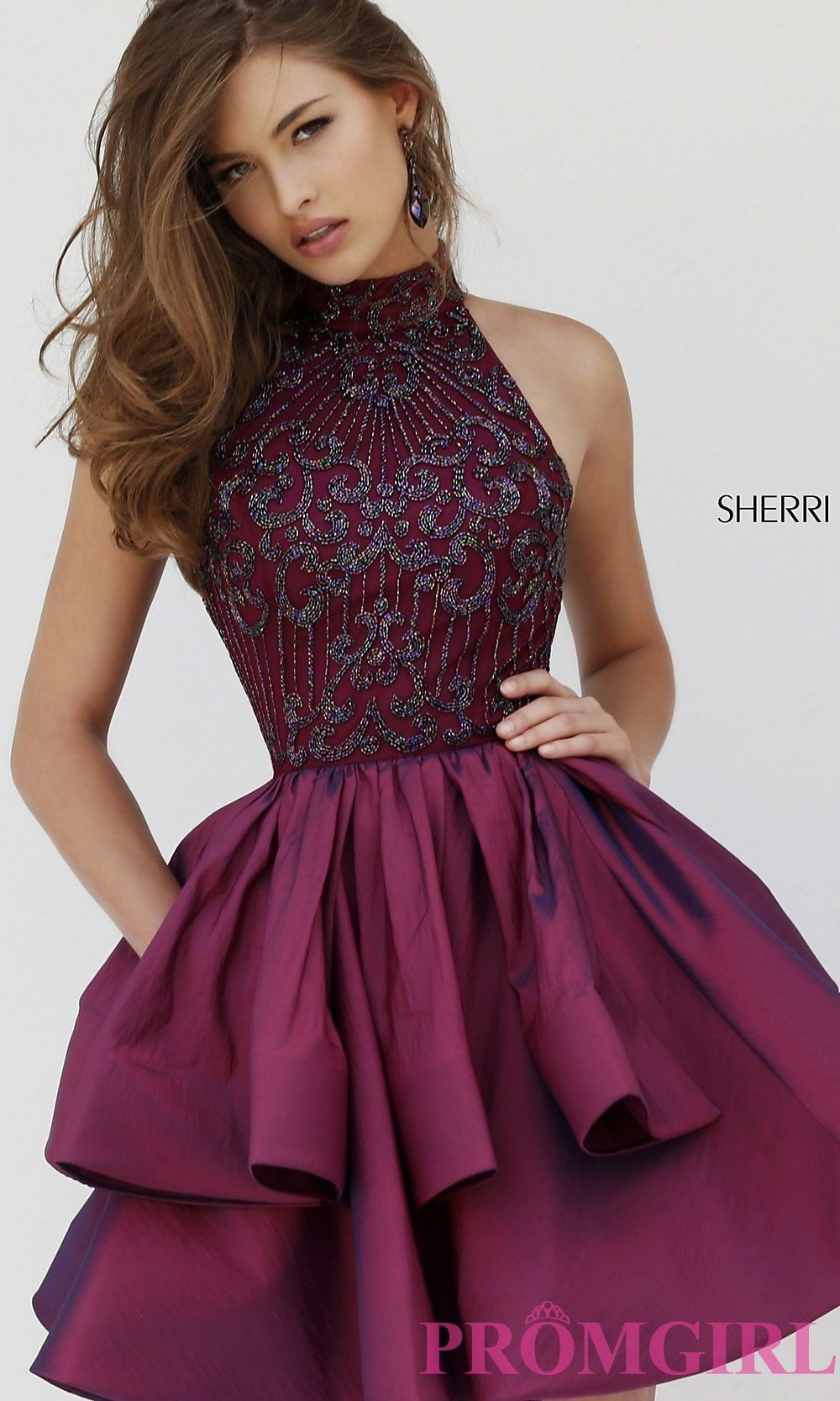 Short High Neck Sherri Hill Homecoming Dress | Prom, Homecoming ...
