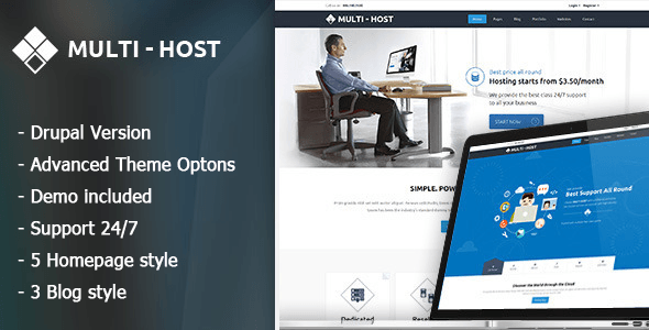 Multi Host  Responsive Server And Vps Drupal 76 Theme Multi Host  a powerful and passionately carved Hosting Template Fully responsive design with unlimited layout possib...