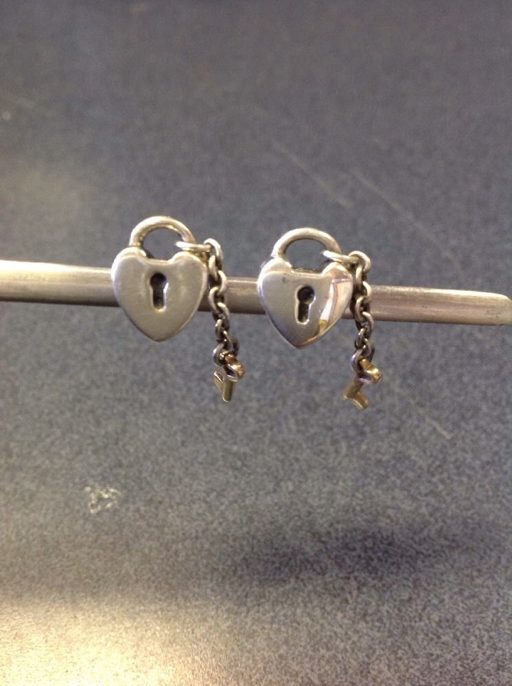 1ce7c7a094bd4 Authentic Pandora 14K Gold Key to My Heart Charm/Bead Silver 925 ALE ...