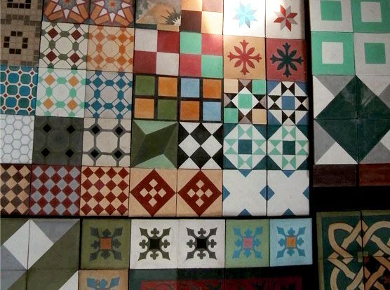 Viancha miranda baldosas baldosines cenefas mosaicos prefabricados de cementos - Baldosas de cemento ...