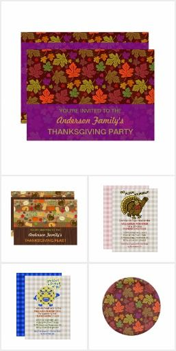 Thanksgiving Party Decorations, Invitations, Cards