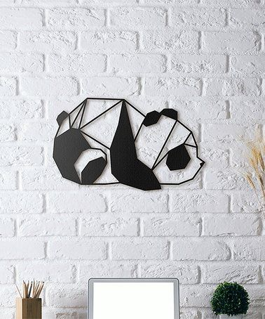 Wall Decor And More this panda metal wall décor is perfect! #zulilyfinds | panda