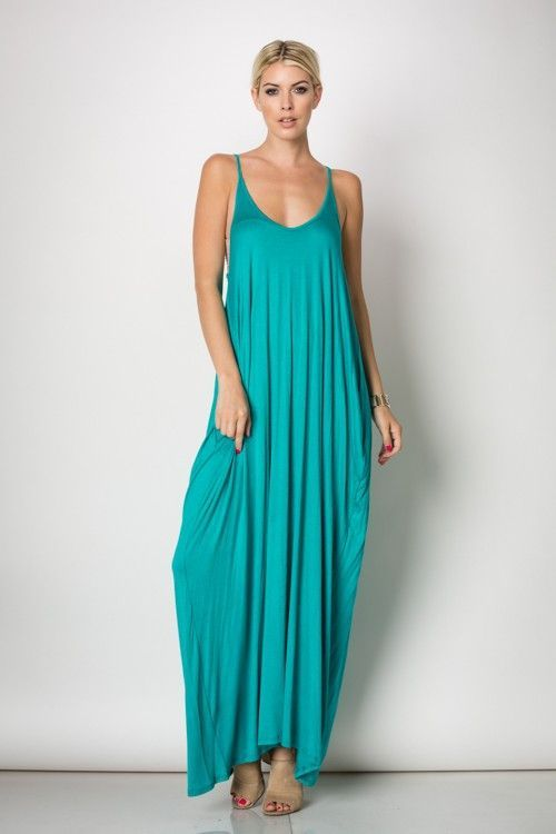 Malibu blue maxi dresses