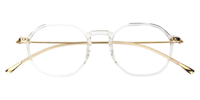 bb959eaa3d3 Unisex Prescription Glasses Vicky Geometric Crystal Eyeglasses Frame 0573-02