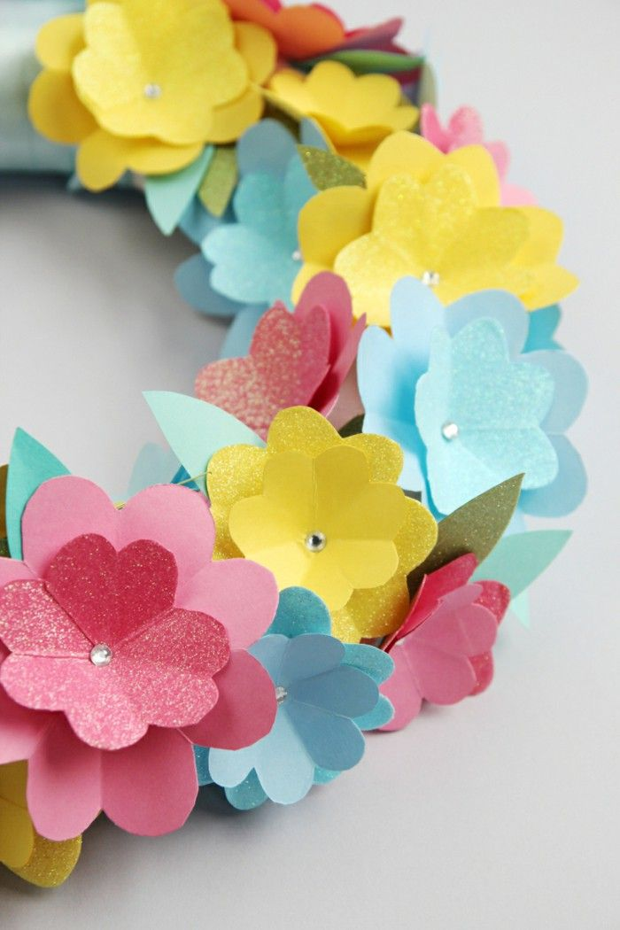 Delightful Card Making Craft Ideas Part - 2: Cardmaking Ideas Spring Spring Wreath Craft Paper