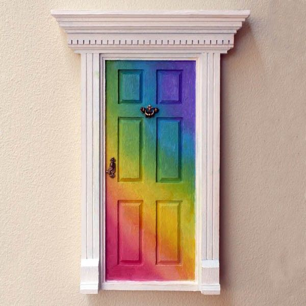 39 lil fairy door rainbow what a clever little white for White fairy door