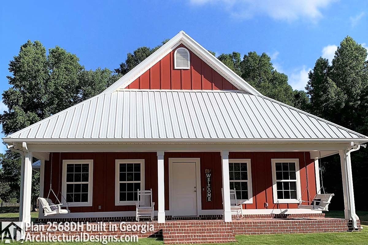Plan 2568DH Small House Plan with a Big Heart in 2020