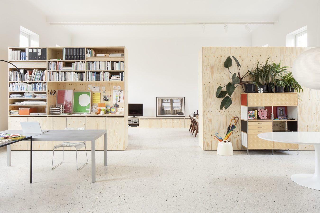 Modern Interieur Herenhuis : Modern herenhuis met multiplex maatwerk kantoor deko