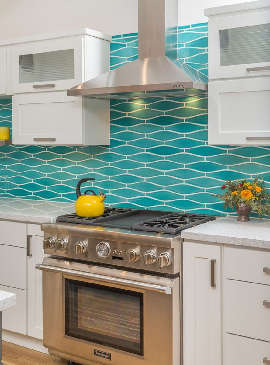 Remodeling Stories A Splash of Turquoise in a White Kitchen in 2019  Ideas for the Home