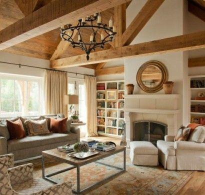 einrichtungsideen fur wohnzimmer designmobel, rustikale-möbel-einrichtungsideen-wohnzimmer-landhausstil, Möbel ideen