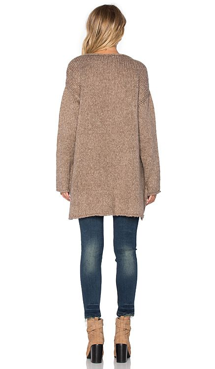 Sincerely Jules Paige Chunky Sweater in Taupe   REVOLVE