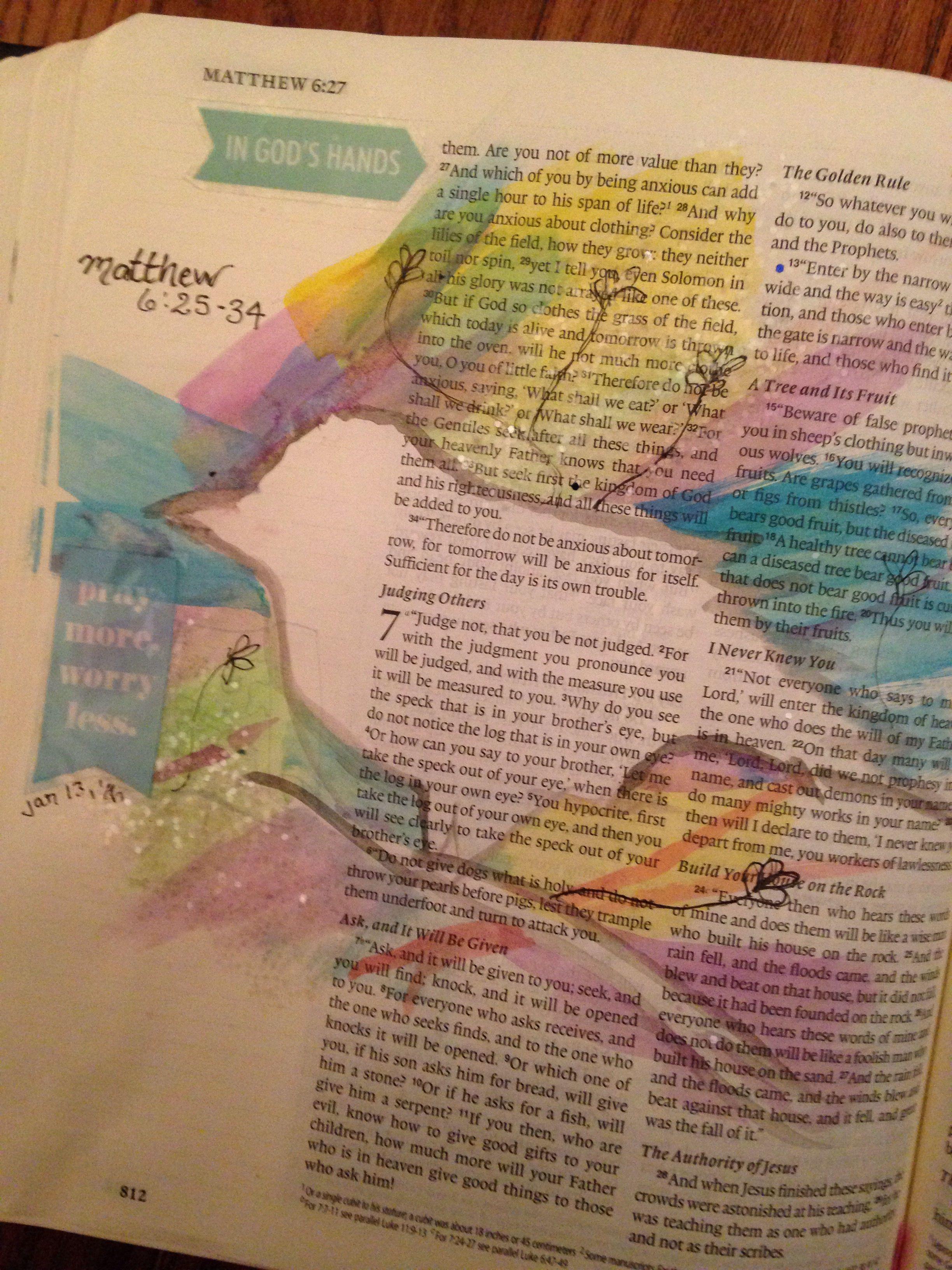 Matthew 6 25 34 Biblejournal Illustratedfaith