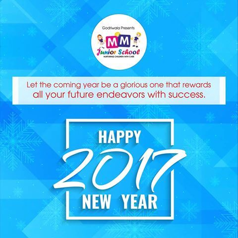 May the #NewYear bring joy, peace and happiness to all the respected parents, beloved #students, honorable #teachers and the awesome #staff of #MMJuniorSchool.  #HappyNewYear2017 #NewYearWishes2017