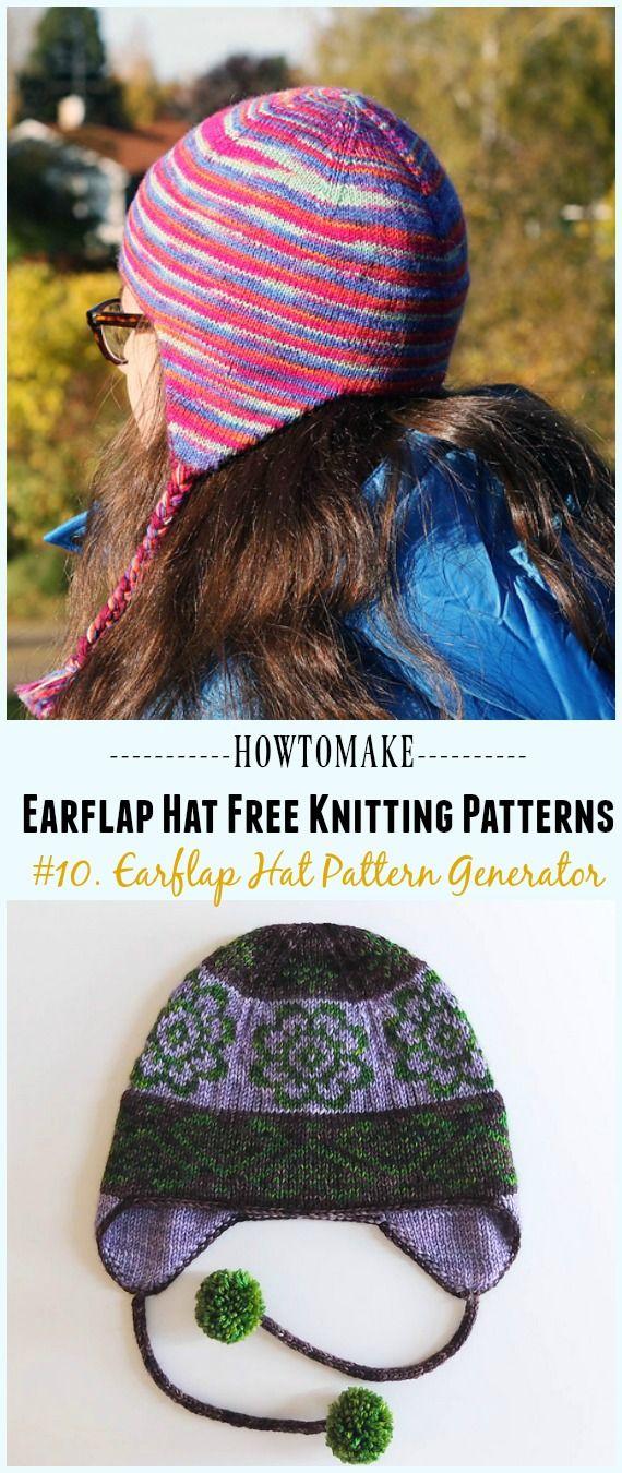 Earflap Hat Free Knitting Patterns | Knitted hats, Crochet ...