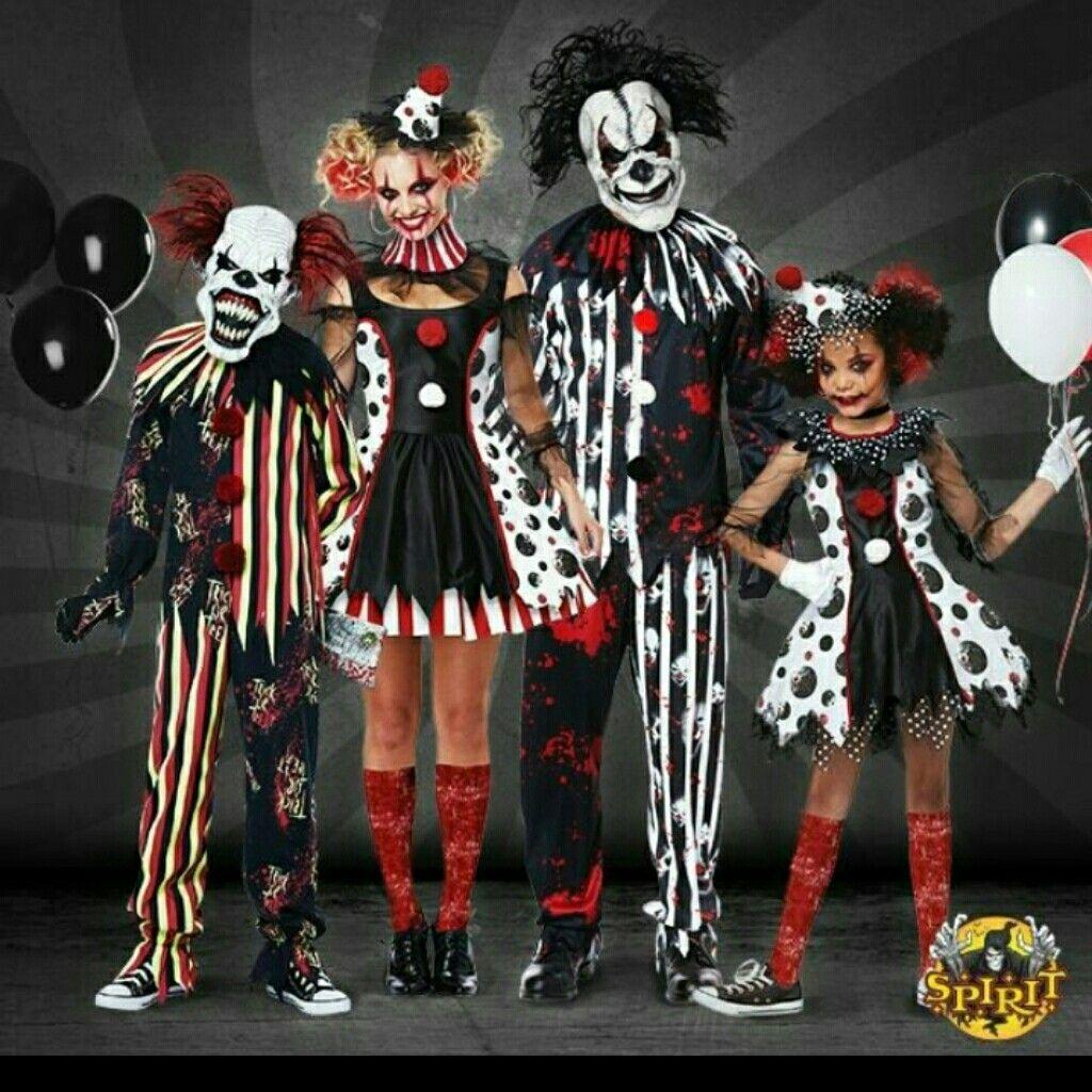 Family goals Scary clown halloween costume, Creepy