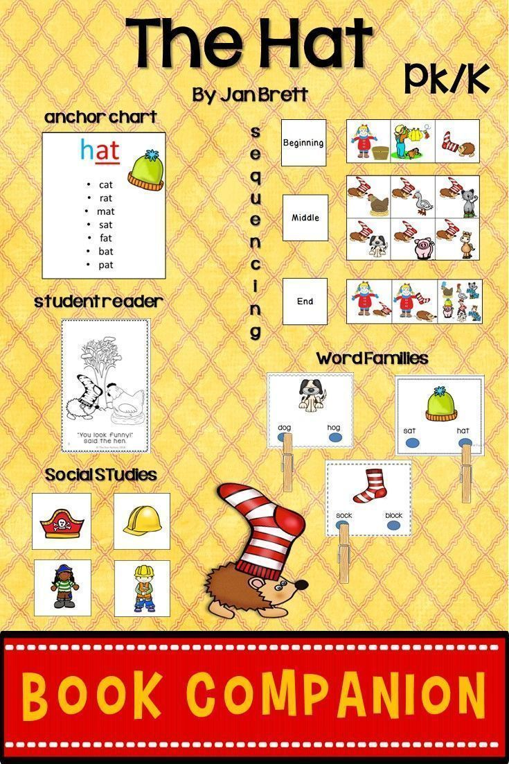 The Hat Book Companion for PK-1 | Ordinal numbers, Number activities ...