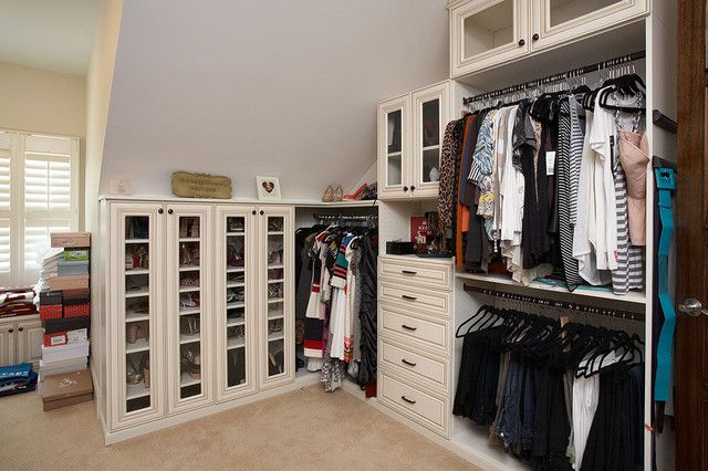 Small Closets With Slanted Ceilings | Small Attic Linen Closet With Sloped  Ceiling. This Was A Very Cute ... | For The Home | Pinterest | Small  Attics, ...
