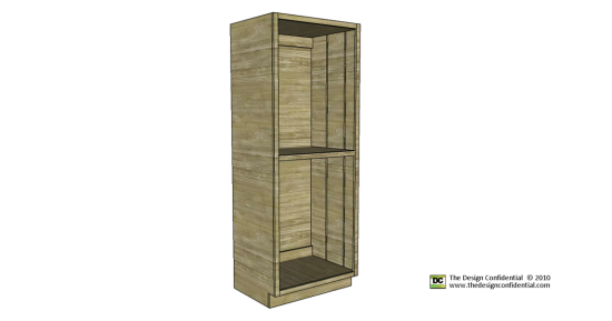 Free Woodworking Plans to Build the Easiest Pantry Cabinet Ever   The  Design Confidential   Woodworking   Pinterest  