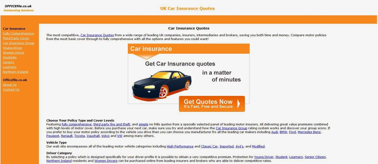 Motor Insurance Quotes Uk Car Insurance Quotes Motorsport