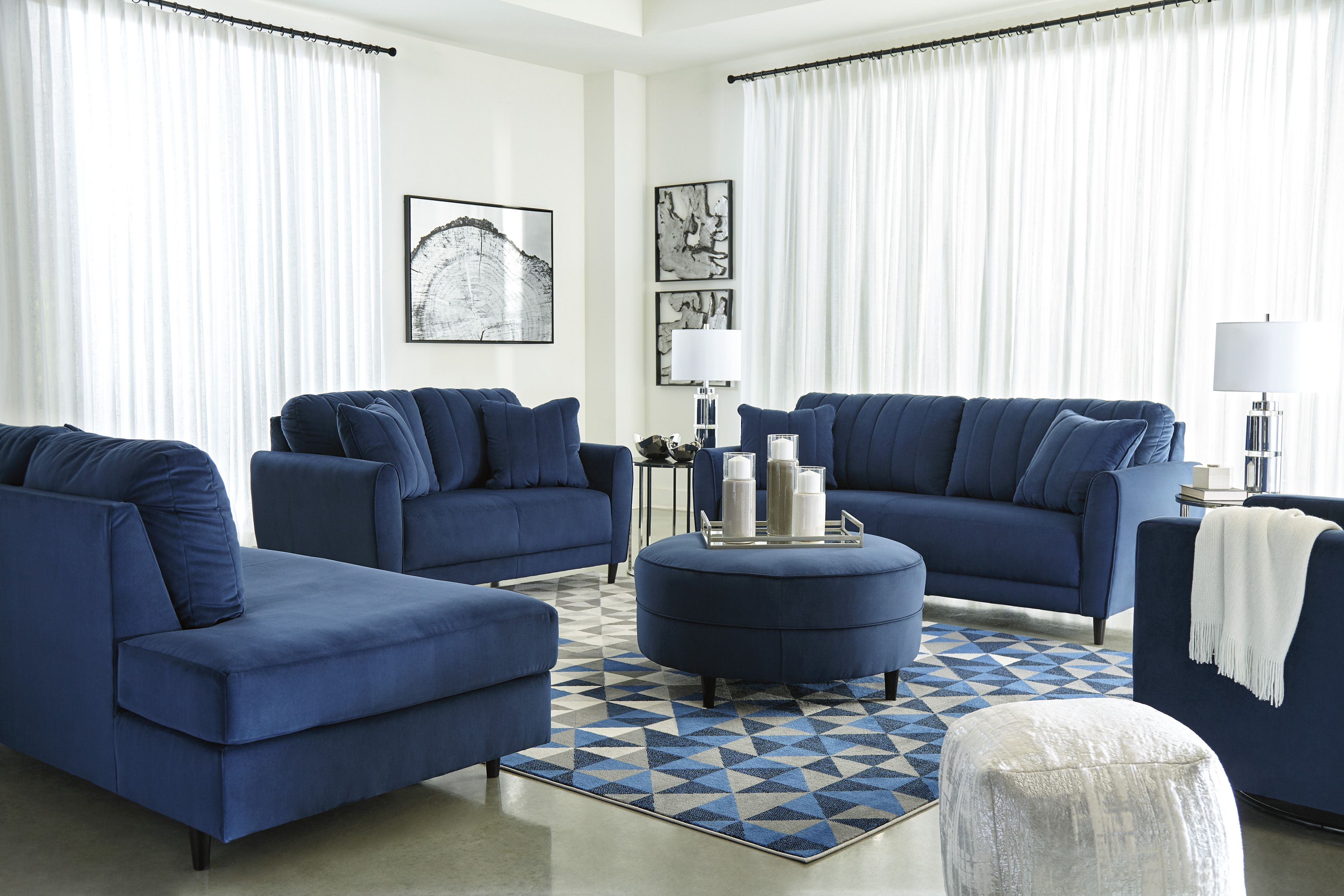 1780138 In By Ashley Furniture In Fairbury Il Enderlin Sofa Blue Living Room Sets Furniture Design Living Room Blue Living Room
