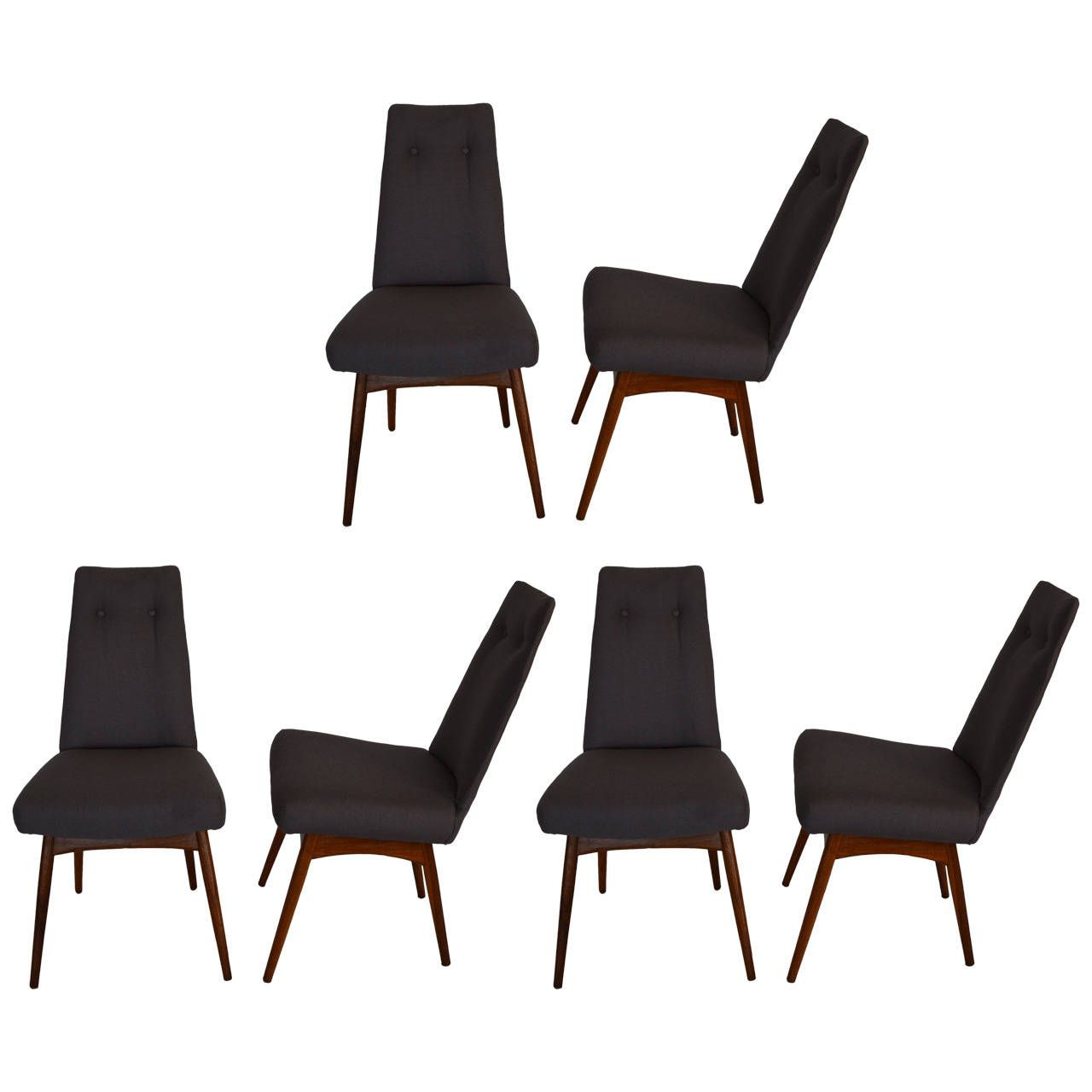 adrian pearsall set of six dining chairs from a unique collection of antique and modern - Set Of Six Dining Room Chairs