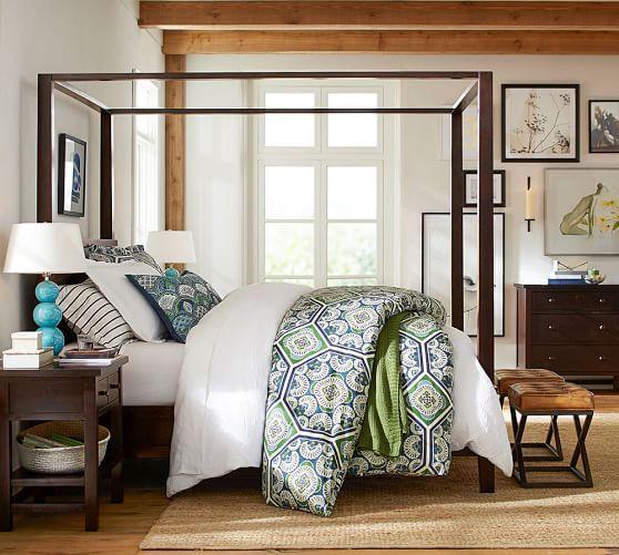 Farmhouse Canopy Bed U0026 Dresser Set | Pottery Barn