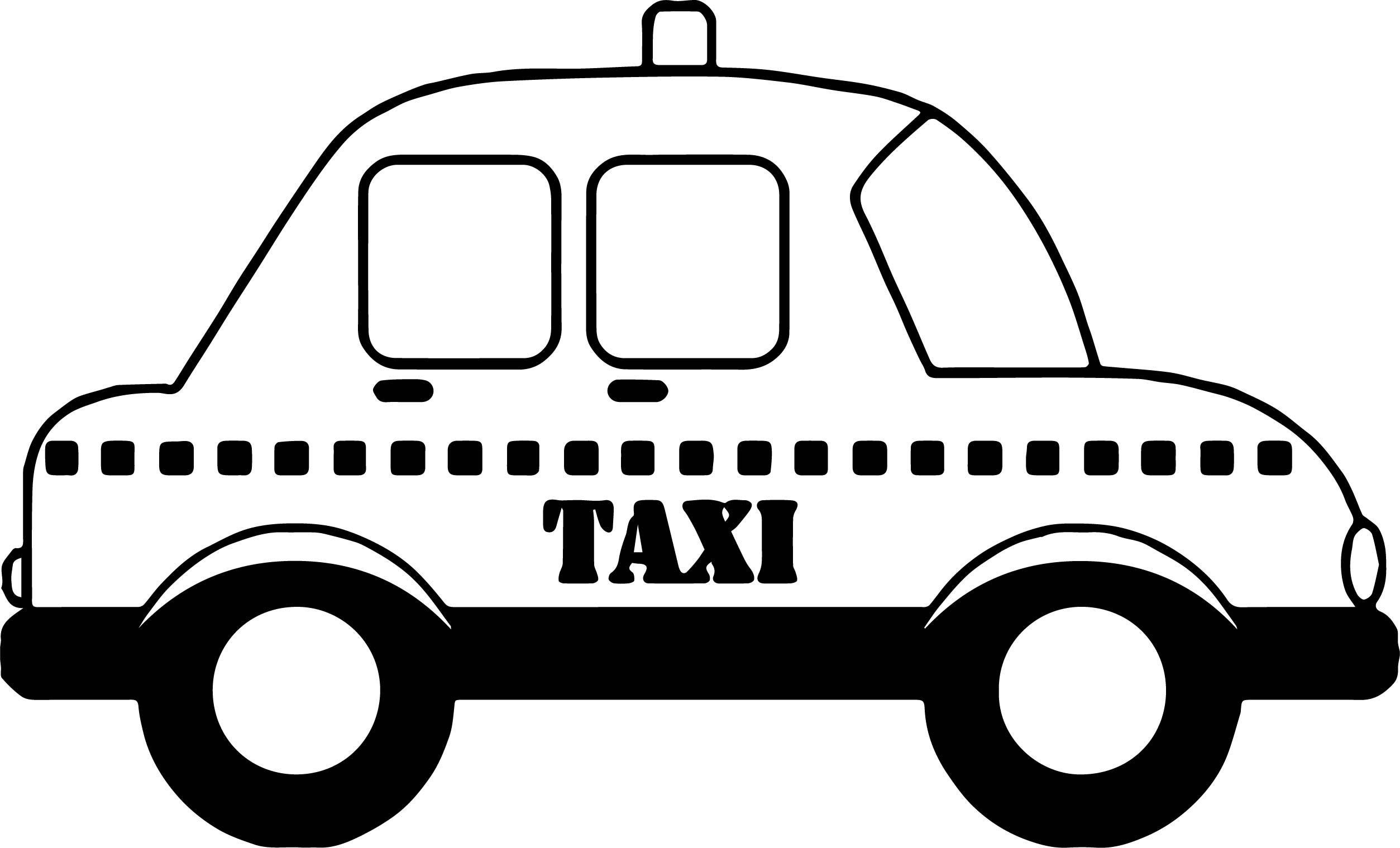 Cool Taxi Car Coloring Page Boyama Sayfalari Araba Otomobil